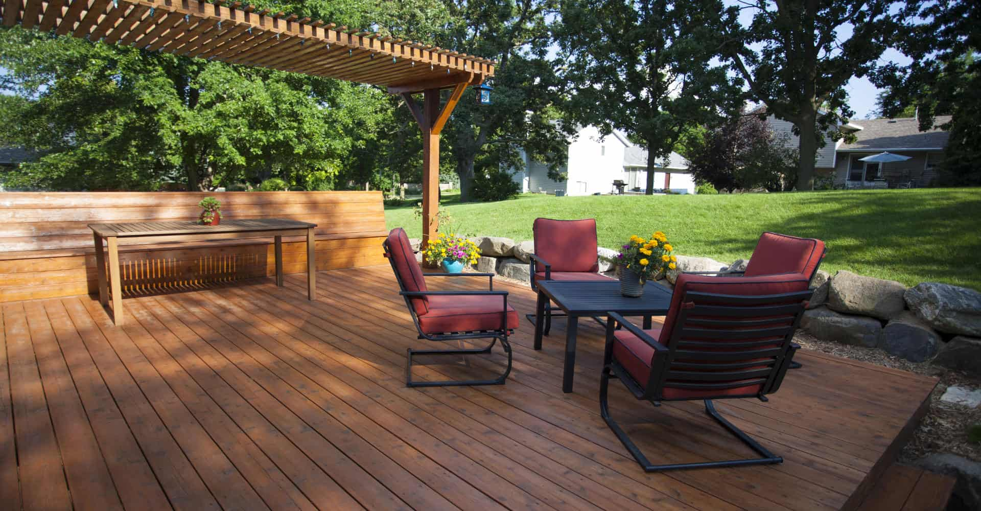A Nice Deck With Pergola